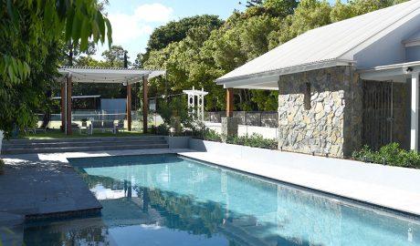 Image of a pool landscape design idea