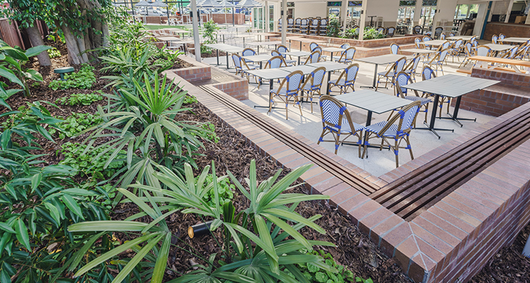 Image of commercial beer garden design by Innovascape