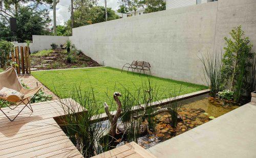 Image of backyard landscape design in Highgate Hill