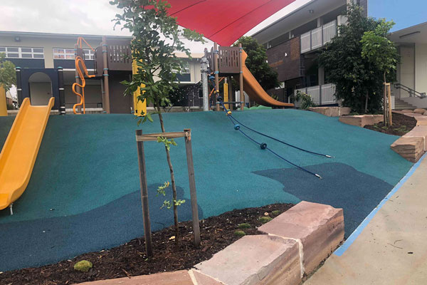 Image of a completed landscaped park construction
