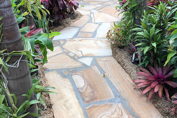Image of a completed landscaped pathway